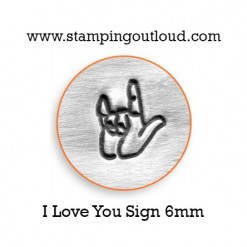 I Love You ASL Metal Design Stamp