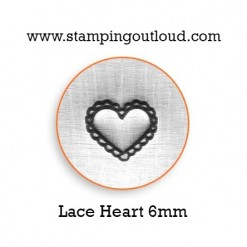 Lace Heart Metal Design Stamp
