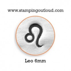 6mm Leo Design Stamped on a Metal Blank
