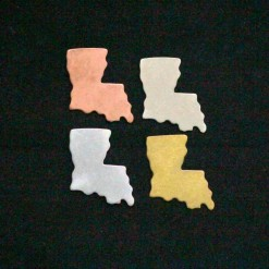 Louisiana State Silhouette Necklace Blanks