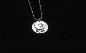 Aluminum Hand stamped Necklace