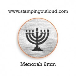 Hanukkah Menorah Metal Design Stamp