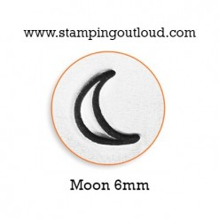 Crescent Moon Metal Design Stamp
