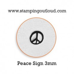 Peace Sign Metal Design Stamp