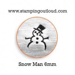 Snowman Metal Design Stamp