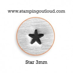 Solid Star Metal Design Stamp