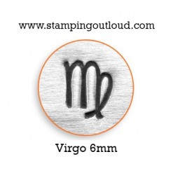 6mm Virgo Zodiac Sign Design Stamped on a Metal Blank