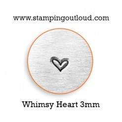 Whimsy Heart Metal Design Stamp