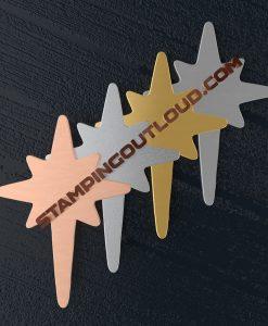 Star of Bethlehem Ornament Stamping Blanks