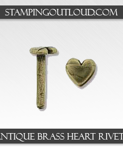 Antique Brass Heart Rivets