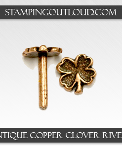Antique Copper Clover Rivets