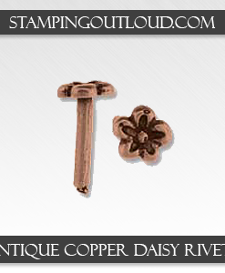 Antique Copper Daisy Rivets