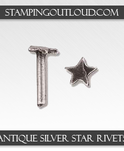 Antique Silver Star Rivets