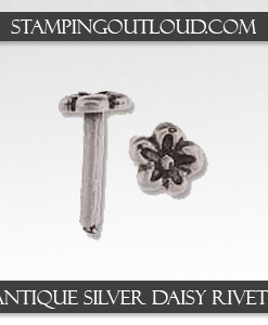 Antique Silver Daisy Rivets