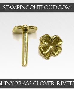 Shiny Brass Clover Rivets