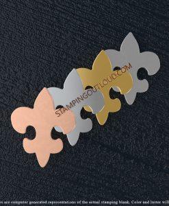 Fleur De Lis Shaped Stamping Blanks