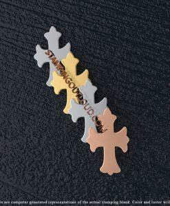 Fleur-de-lis Cross Stamping Blanks