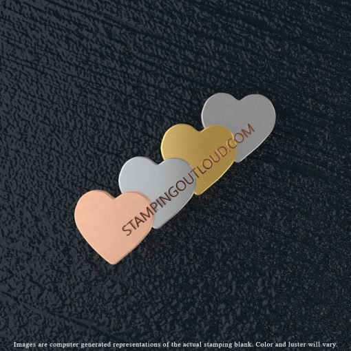 Heart Charm Stamping Blank
