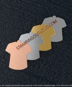 Jersey T-Shirt Shaped Stamping Blanks