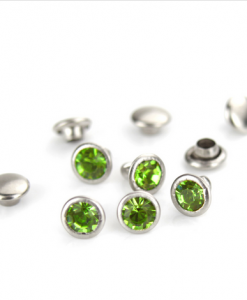 Light Green Czech Crystal Snap Rivets