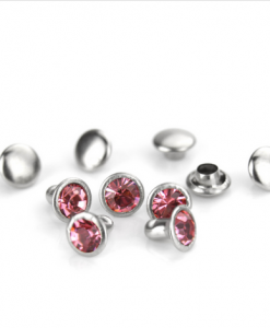 Pink Czech Crystal Snap Rivets