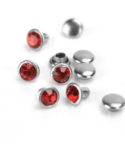Red Czech Crystal Snap Rivets