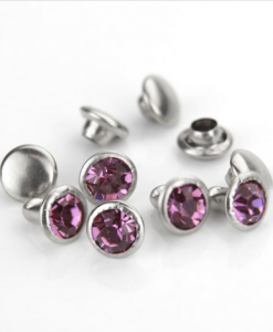Amethyst Czech Crystal Snap Rivets