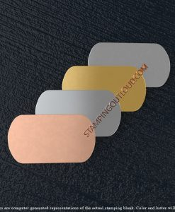 Military Dog Tag Shaped Stamping Blanks