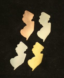 New Jersey Silhouette Necklace Blanks
