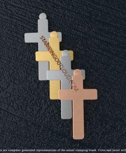 Tabbed Plain Cross Stamping Blanks