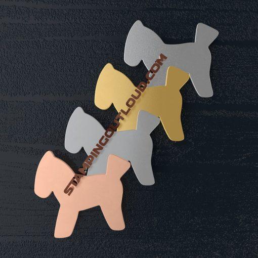 Hobby Horse Shaped Stamping Blanks