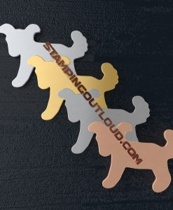 Puppy Shaped Stamping Blanks