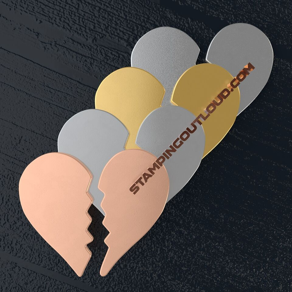 Broken Heart Shaped Stamping Blanks