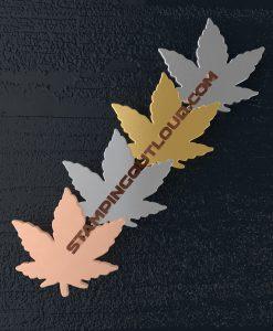 Pot Leaf Shaped Stamping Blanks