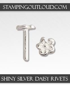 Shiny Silver Daisy Rivets