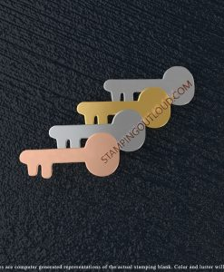 Skeleton Key Shaped Stamping Blanks
