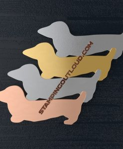 Dachshund shaped stamping blanks