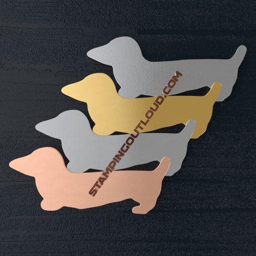 Dachshund shaped stamping blanks