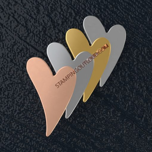 Heart Shaped Stamping Blanks